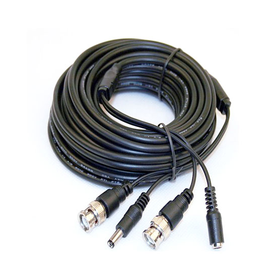 Pre made BNC DC video power coaxial cable 20m