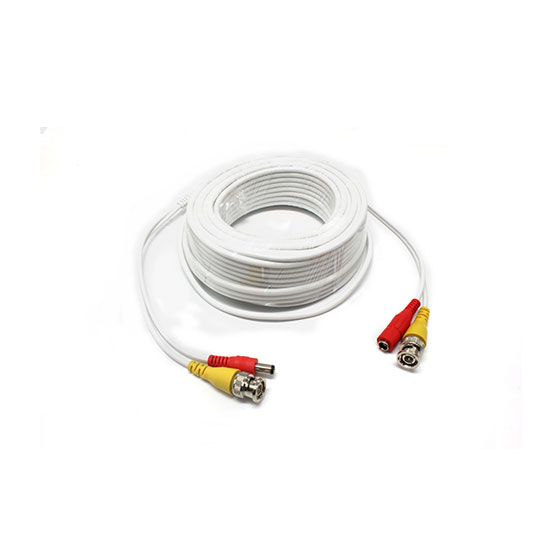 BNC DC video power coaxial cable 15m